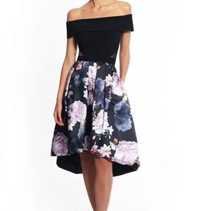 Glamorous Xscape dress with floral print on black